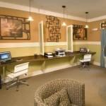 Alta Lakeshore Lofts Apartment Computer Room